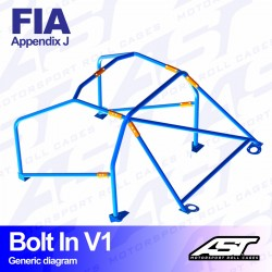 Arco seguridad FIA golf mk3 6pts ast Bolt in V1
