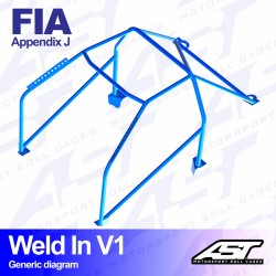 Arco trasero FIA golf mk1 6pts ast weld in V1