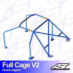 Arco trasero golf mk2 6pts ast full cage V2