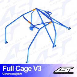 Arco seguridad golf mk3 6pts ast full cage V3