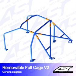 Arco seguridad golf mk1 6pts ast full cage V2 CALLE
