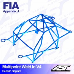 Arco seguridad FIA golf mk2 Multipoint ast weld in V4