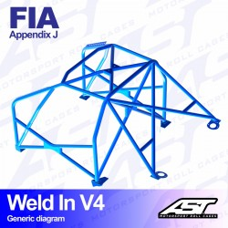 Arco seguridad FIA golf mk2 6pts ast Weld in V4